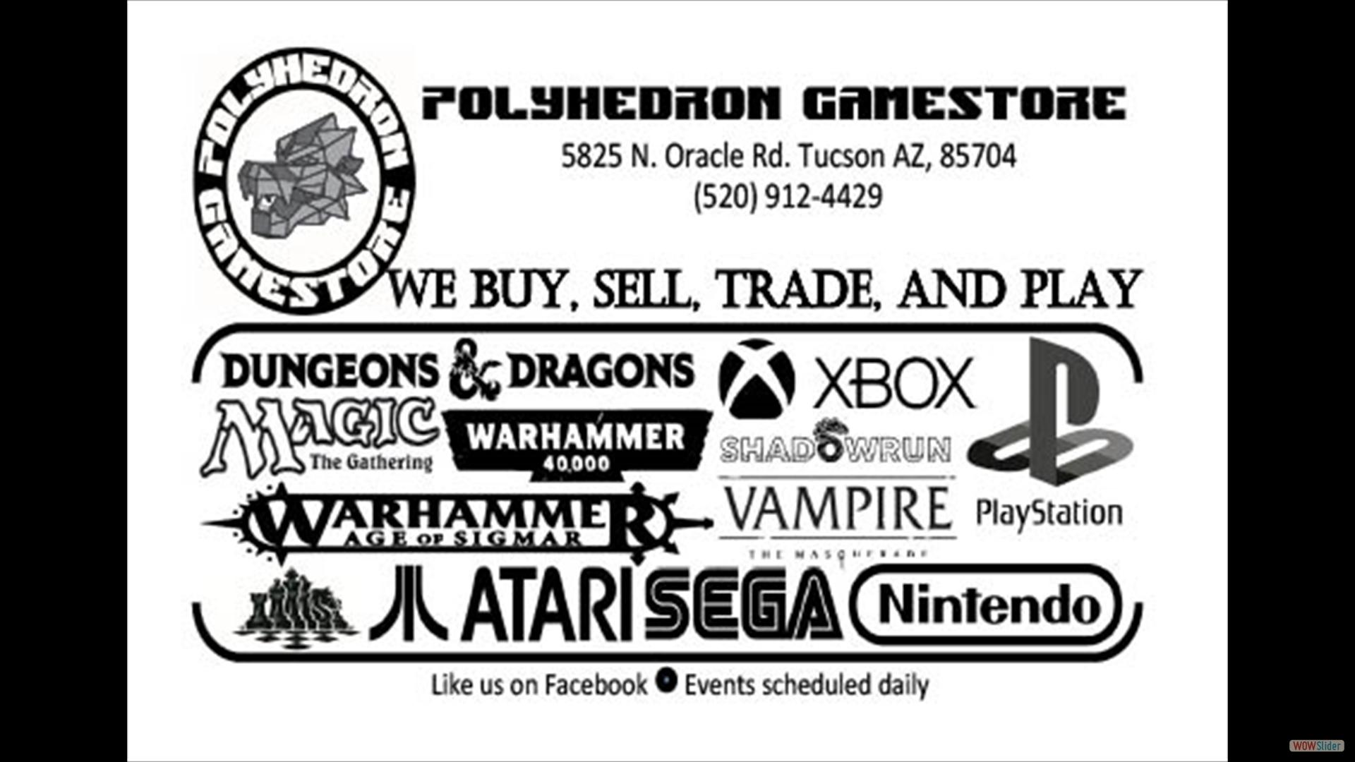 Polyhedron Gamestore borderless SINGLE