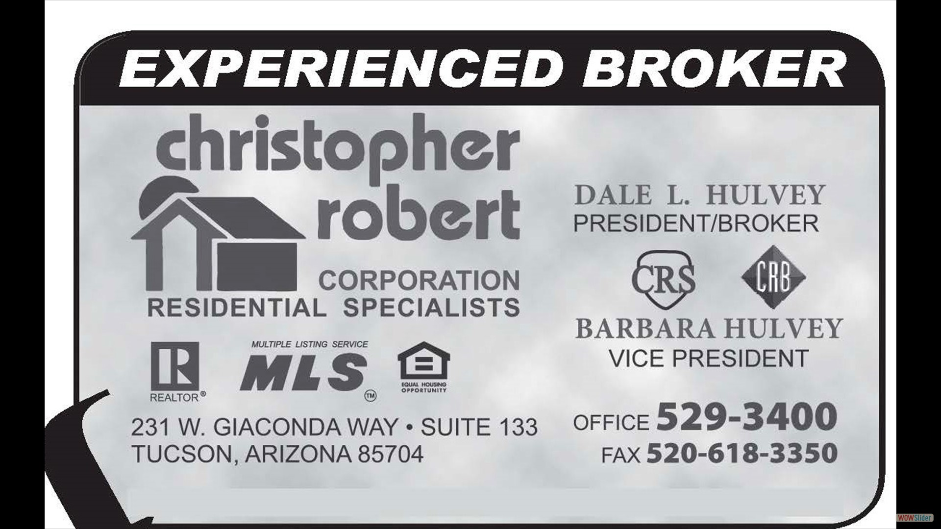 Experienced Broker